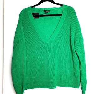 LFD by FATE sz L green knit sweater